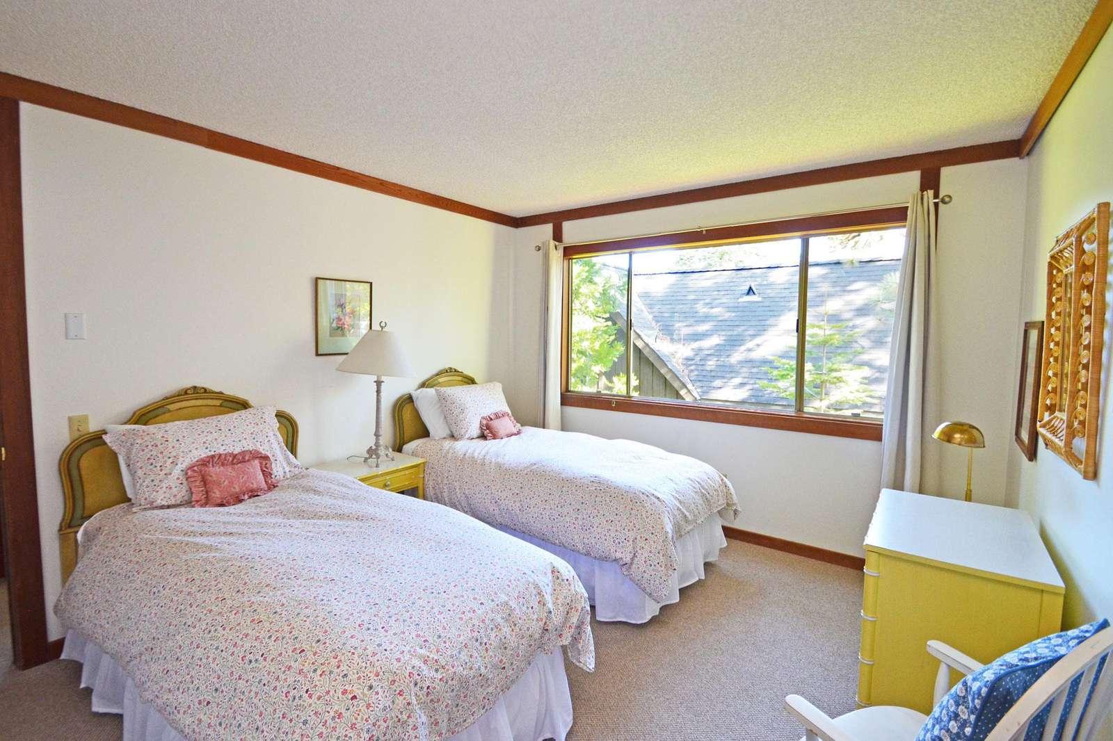 Twin Bedroom with Down Comforters