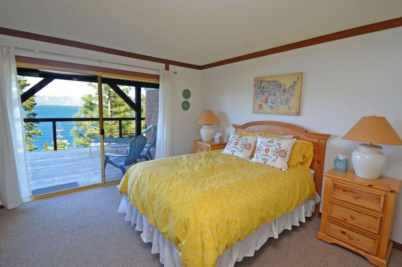 Master Bedroom with Views of Lake Tahoe