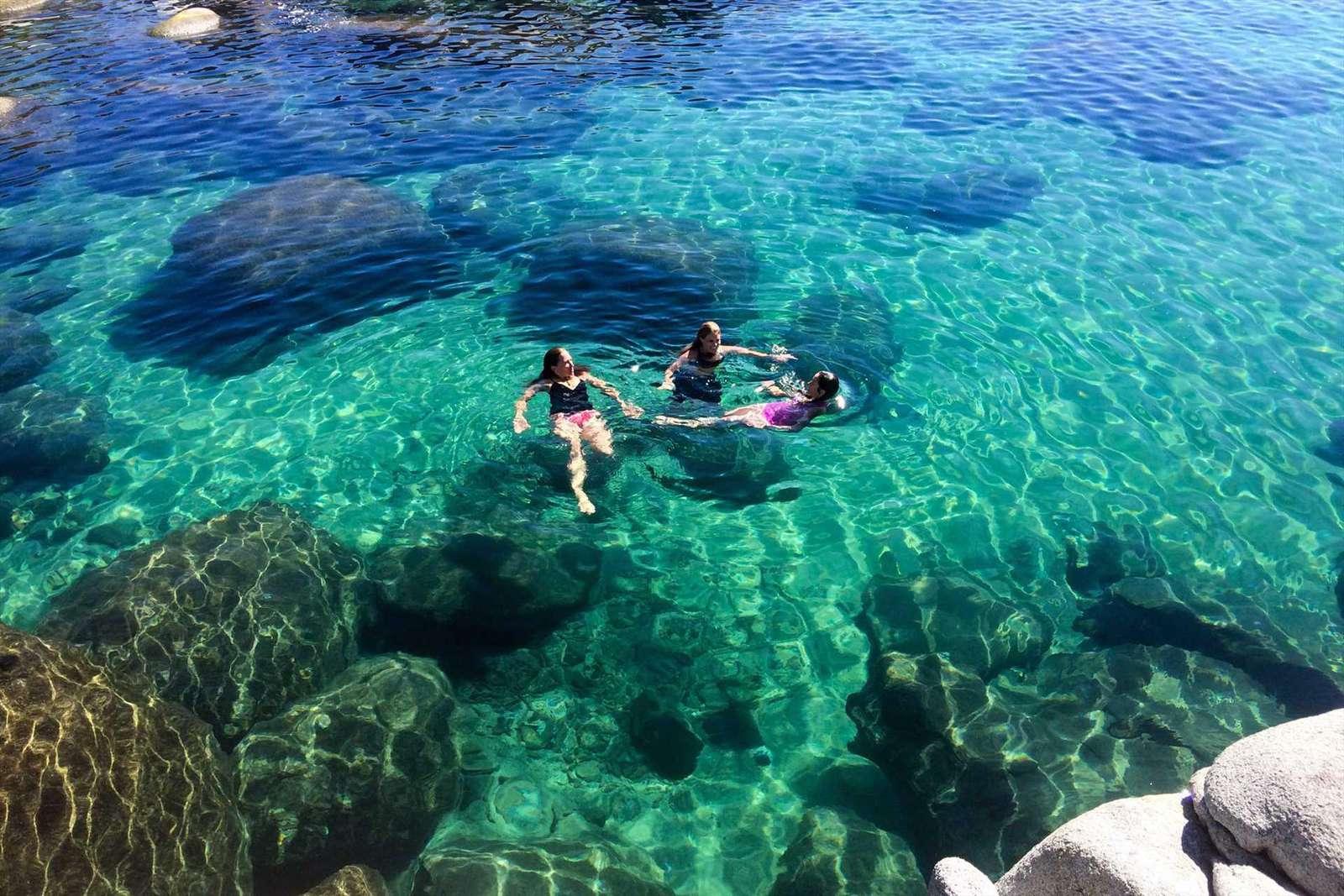 Swimming in Lake Tahoe