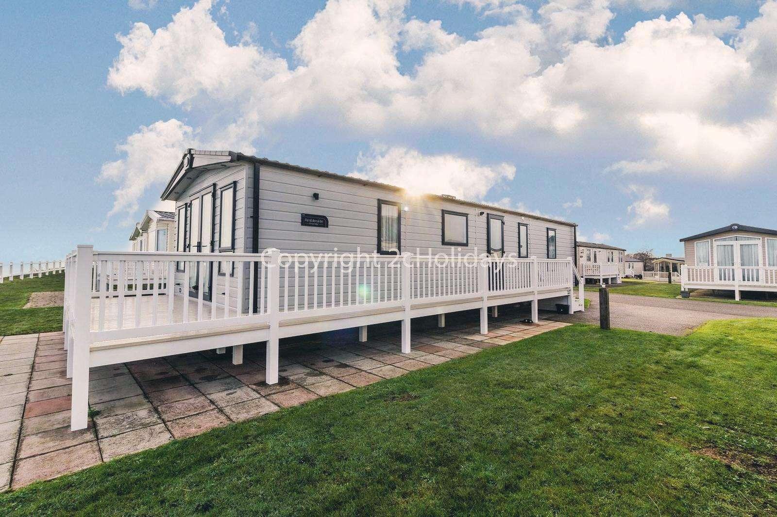 8 berth accommodation at Hopton Holiday Village