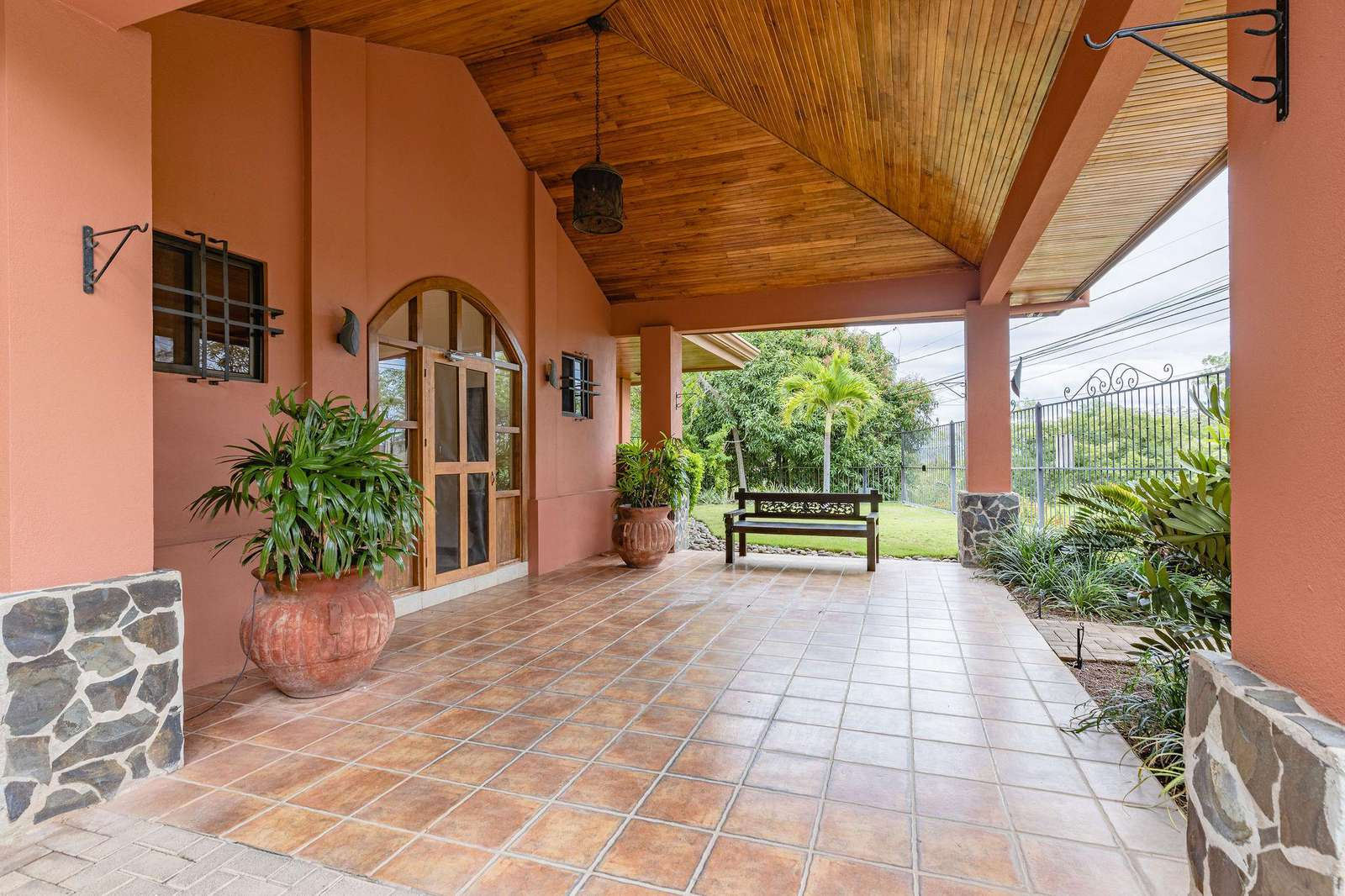Carport area, main entrance of Casa Rosa