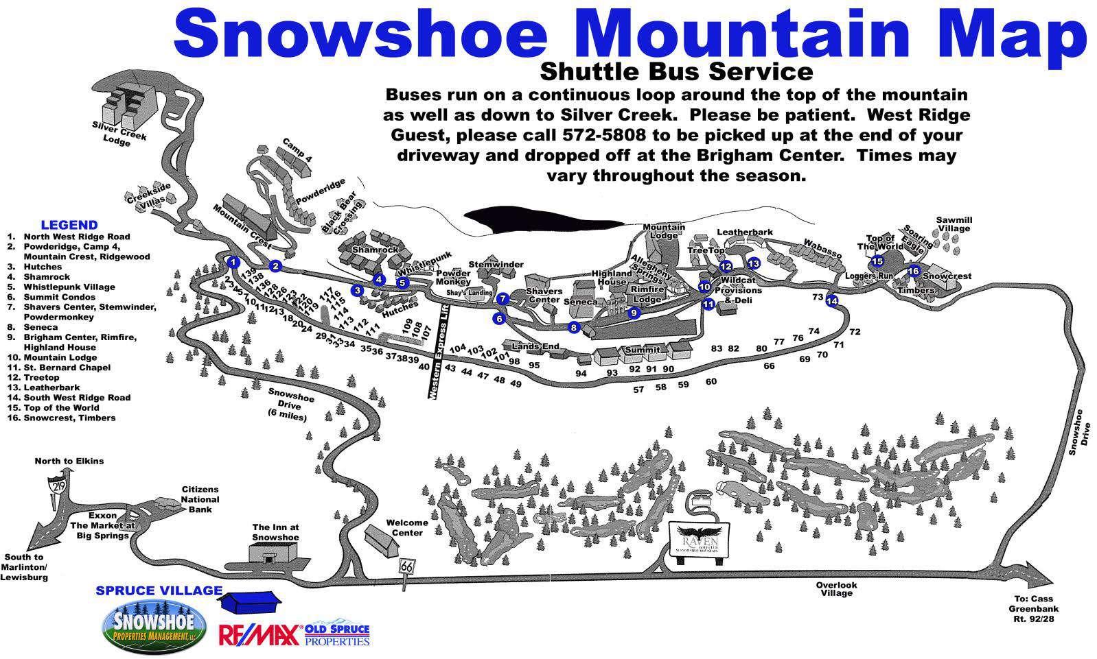 Snowshoe Mountain Map