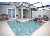 Private pool in screened patio (Kids Play House) thumb
