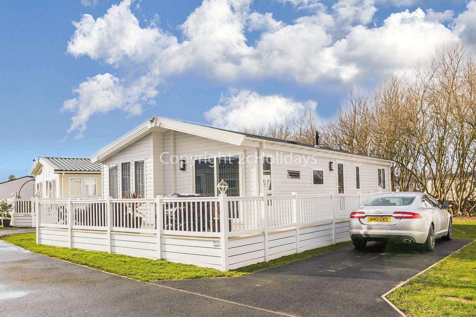 Stunning accommodation at Broadland Sands Holiday Park.