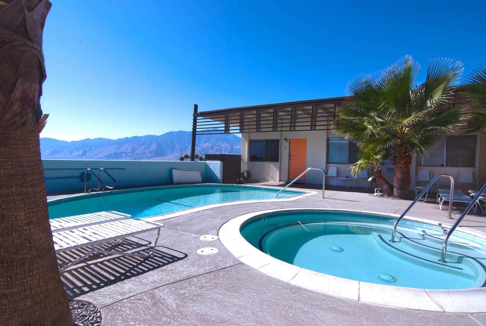 Pool deck, mountain view