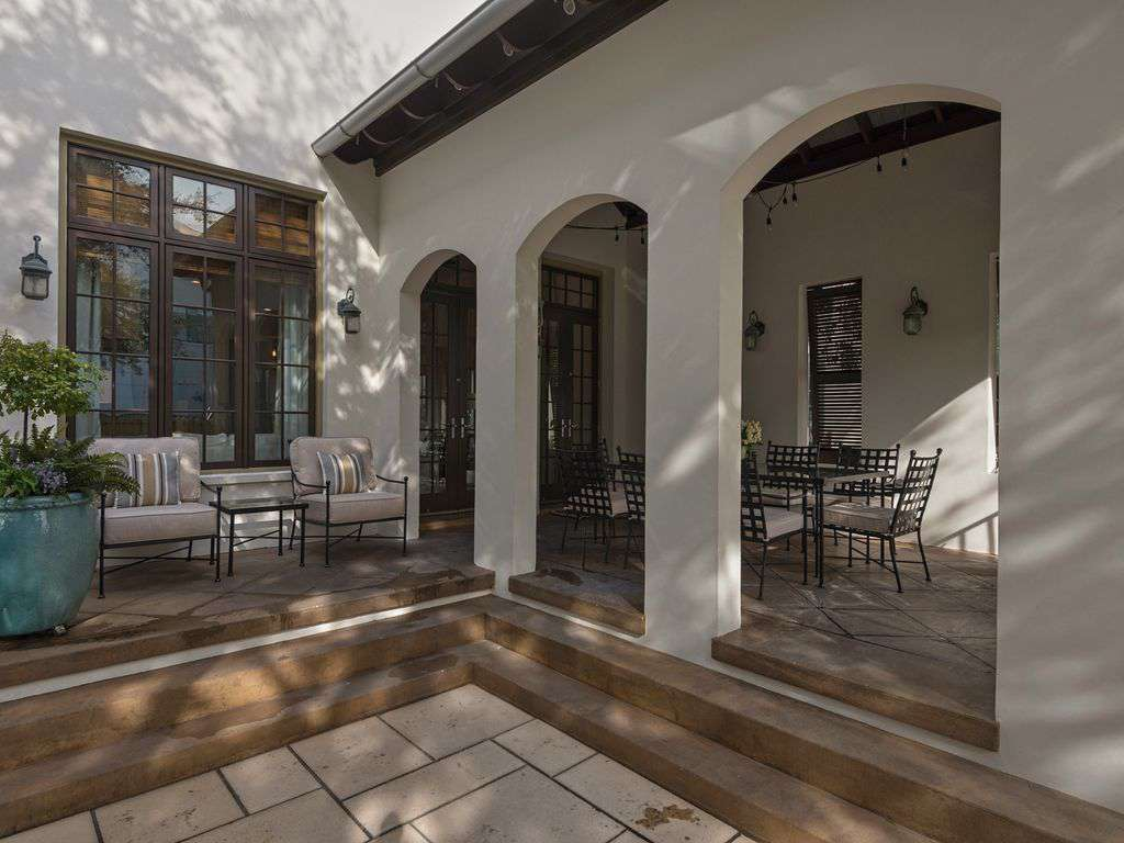 Tuscan style entry to home