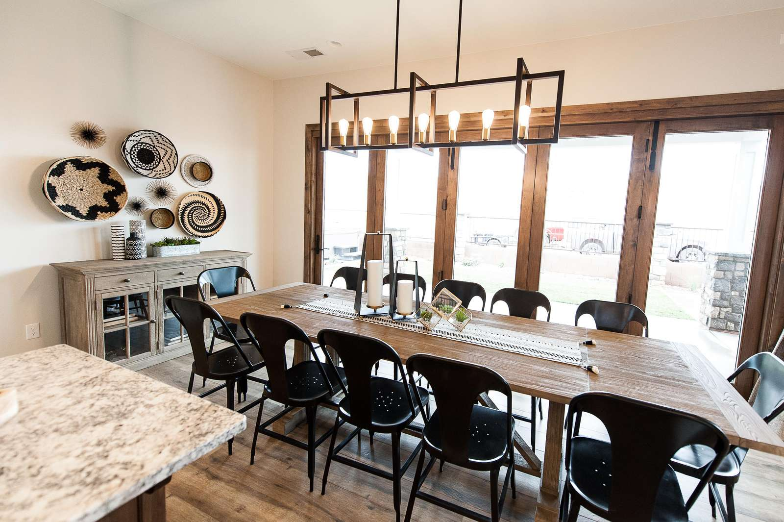 Kitchen table with seating for 12