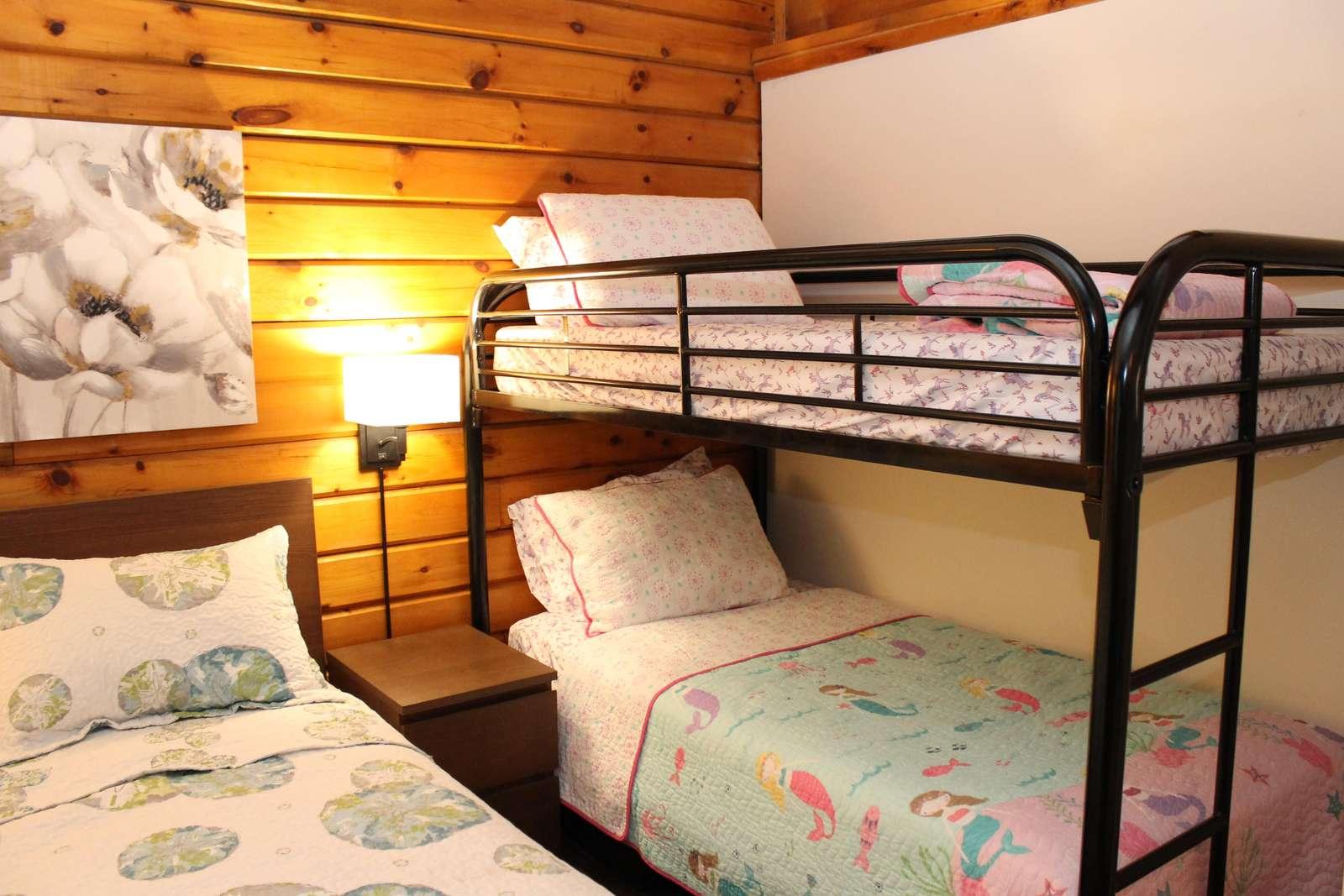 Master bedroom - single over single bunk bed