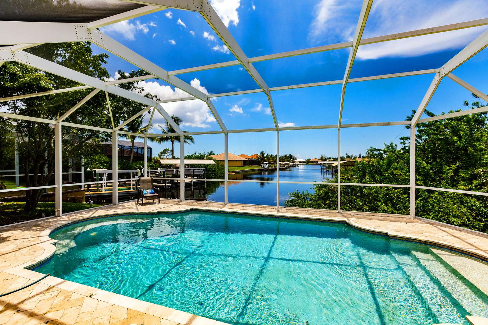 View from the pool deck - property