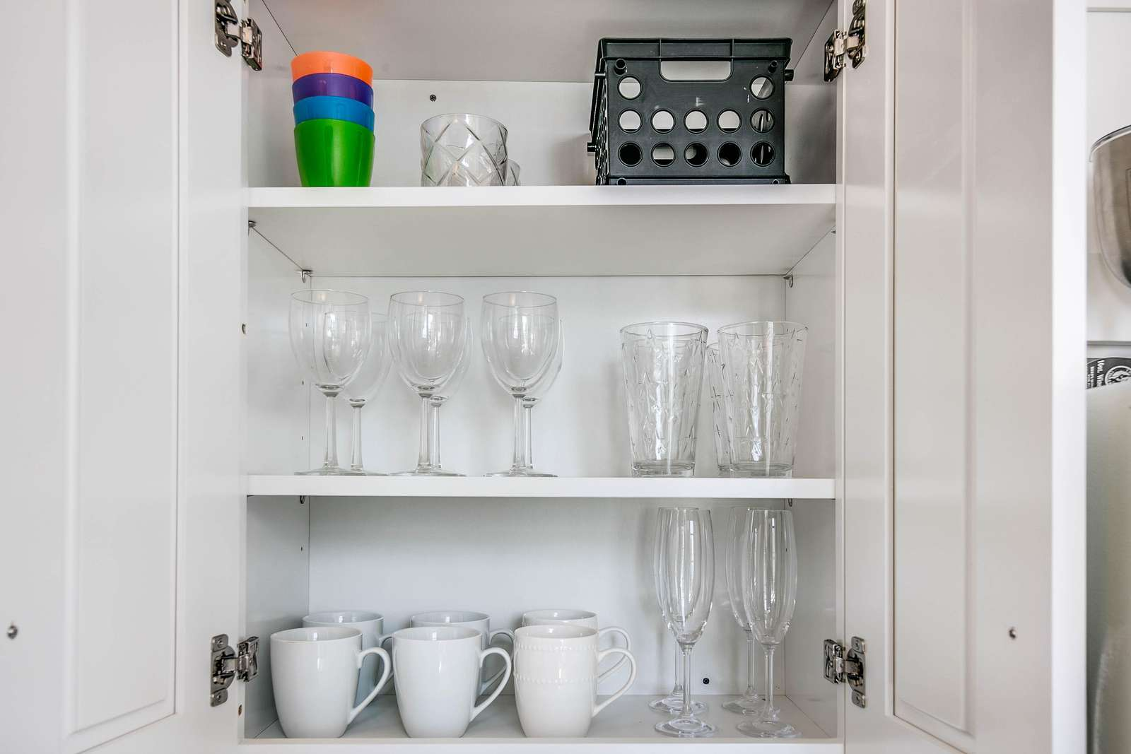 Well stocked cabinets