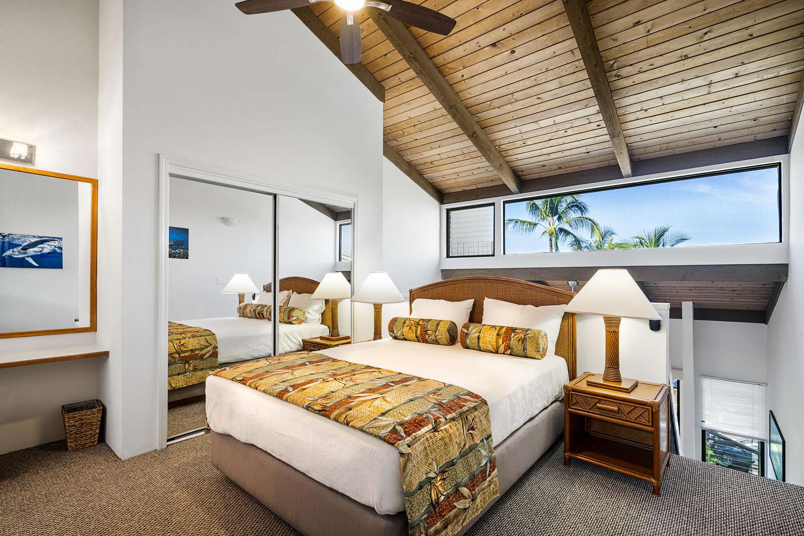 Loft bedroom with Queen bed and private bath