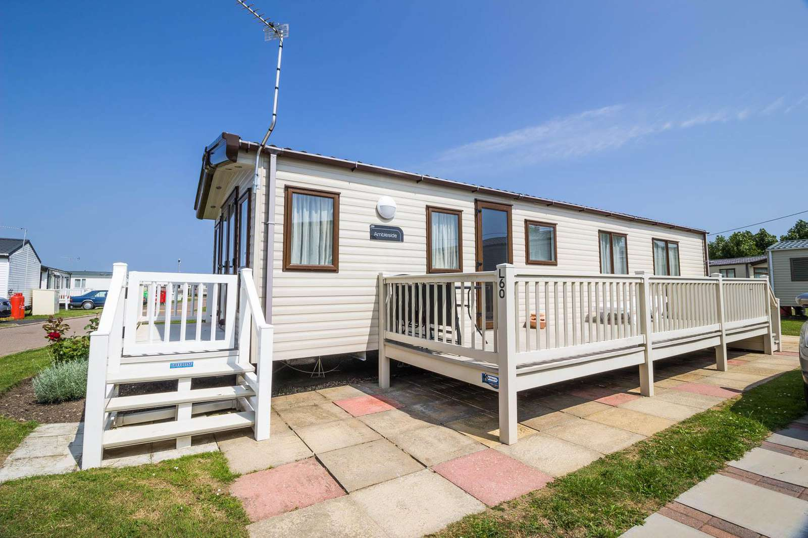50060L – Lapwing area, 2 bed, 6 berth caravan with decking, D/G & C/H. Diamond-Plus rated. - property