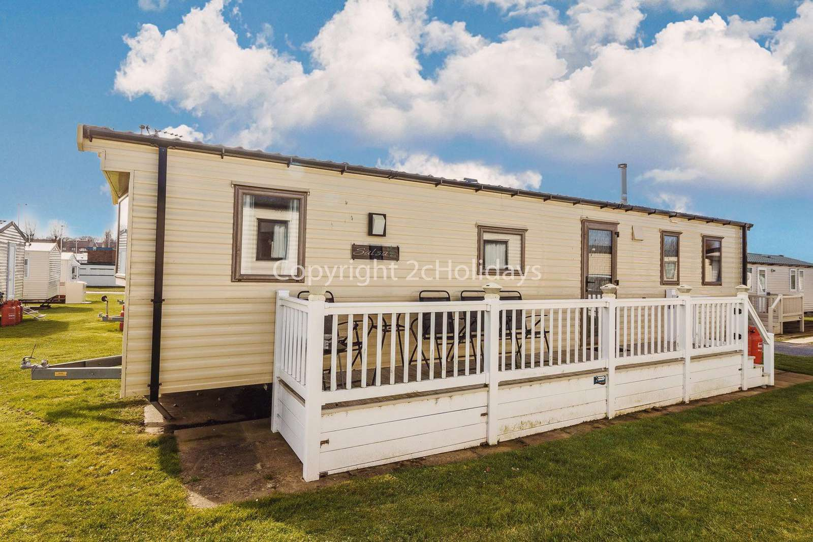 Caravan for hire at Haven hopton holiday park.
