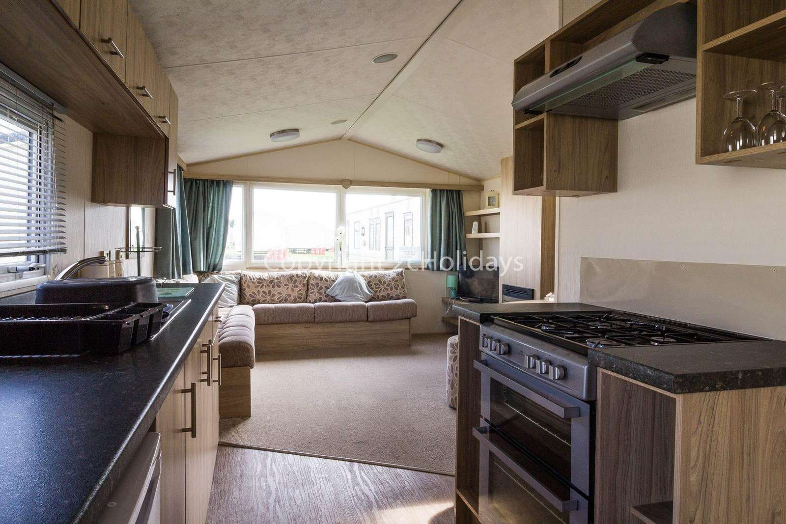 A fully equipped modern kitchen, perfect for self-catering breaks!