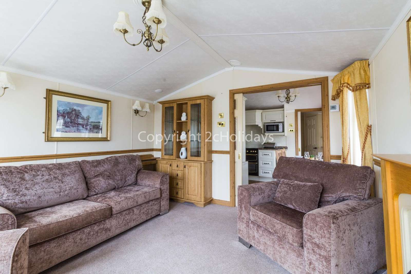 You can find a double sofa bed in this lounge