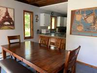 Beautiful new farmhouse table. Gather for meals and games! thumb