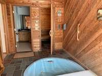 hot tub, sauna and bathroom, main floor thumb