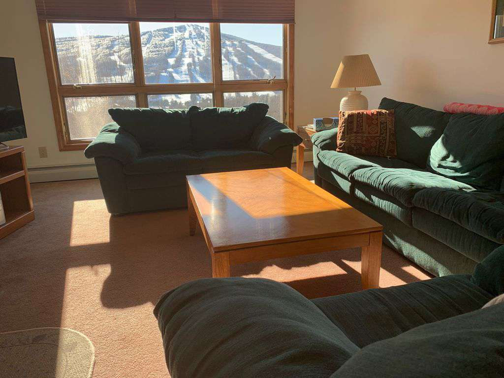 Views of Mount Snow from every room: a perfect place to relax after a big ski day. - property