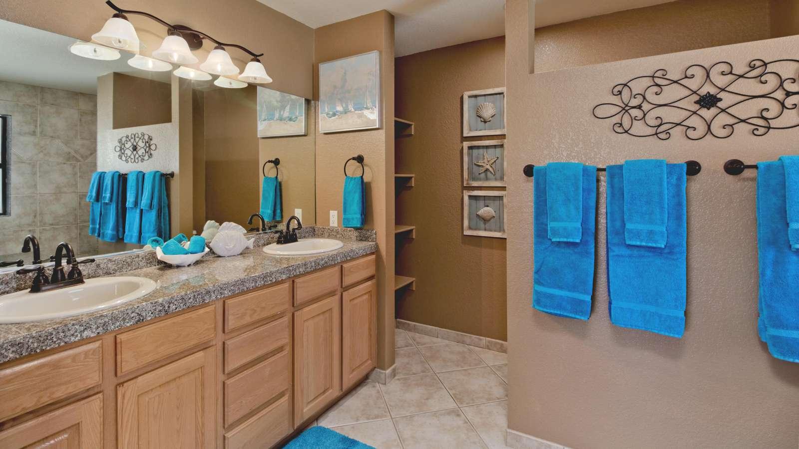 Turquoise Master Bath