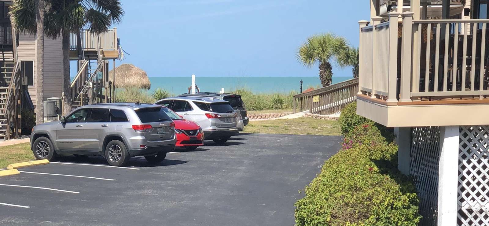 Ocean View from Parking Lot Outside Unit