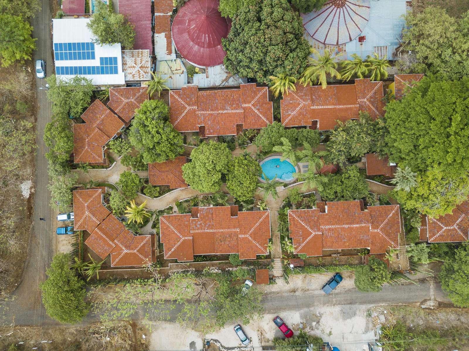 Aerial view of Pueblo del Mar, Community pool area