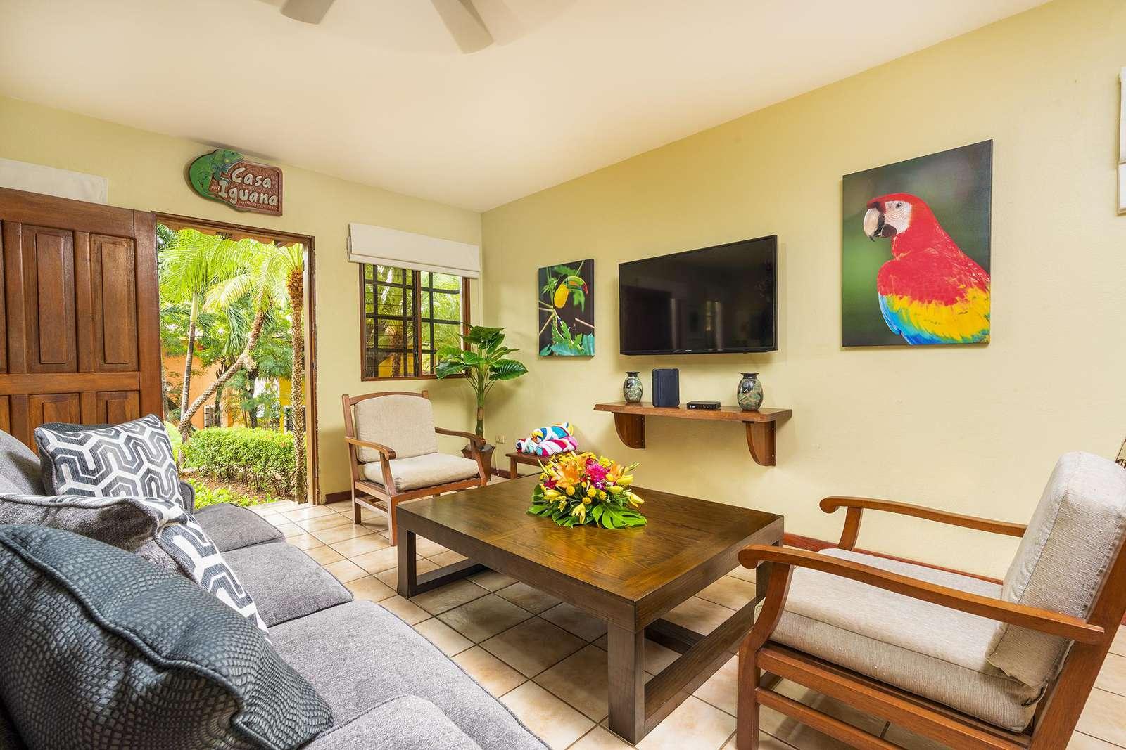 Living area, Sleeper sofa, Flat Screen TV