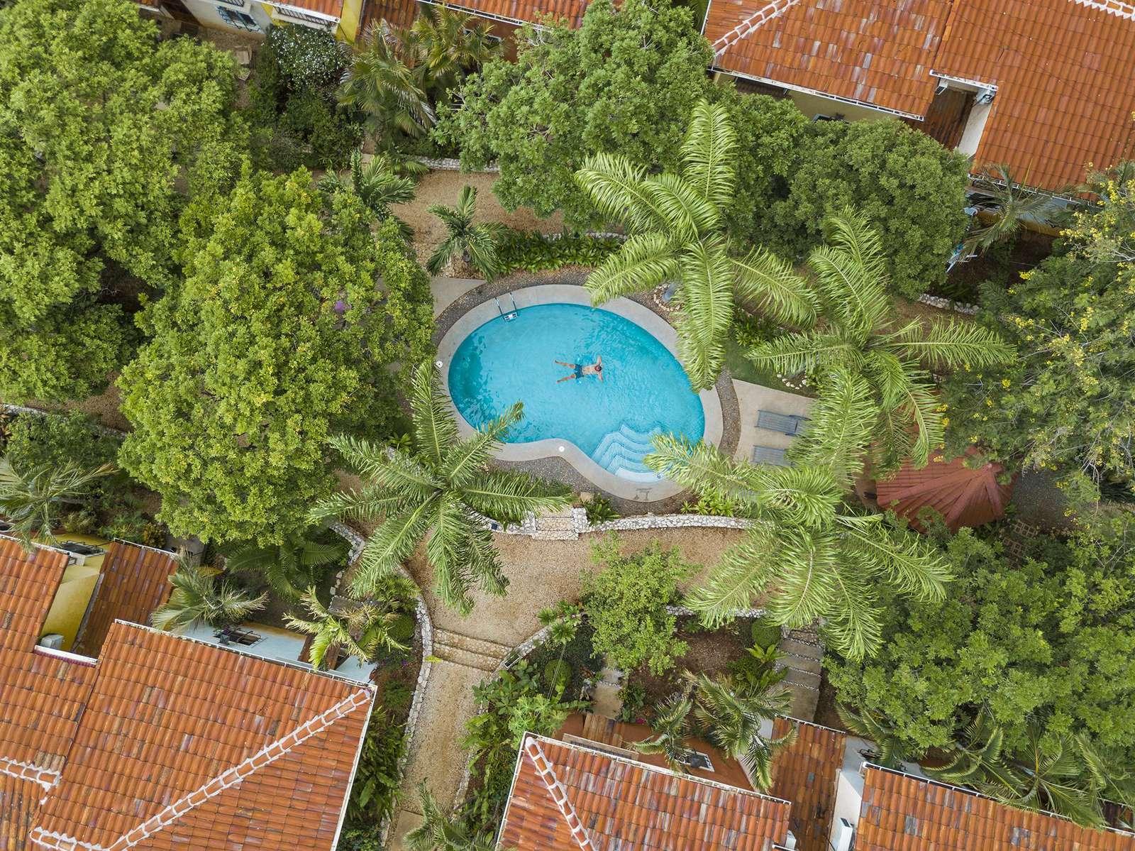 Pueblo del mar community aerial view and pool area