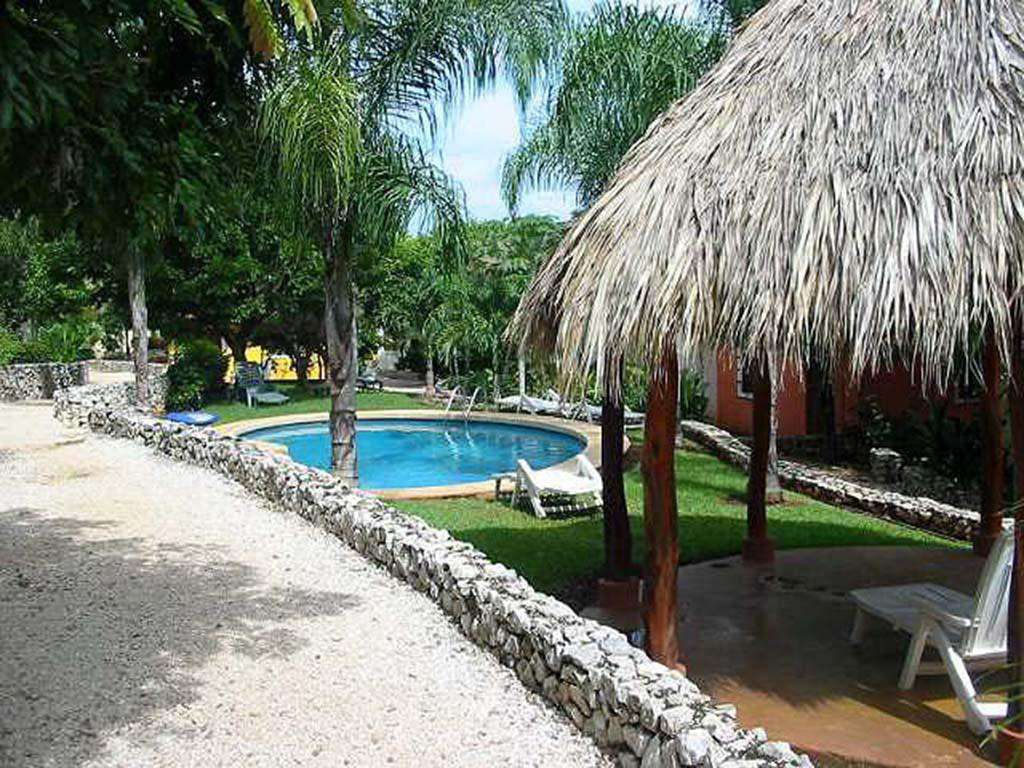 Beautiful resort style pool with covered palapa area