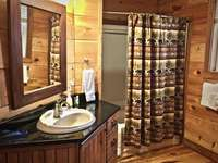 2 Full Bathrooms, One on each Level of the Cabin thumb