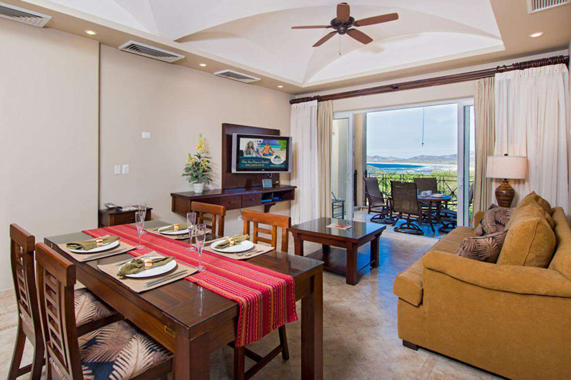 Dining area and view to living area