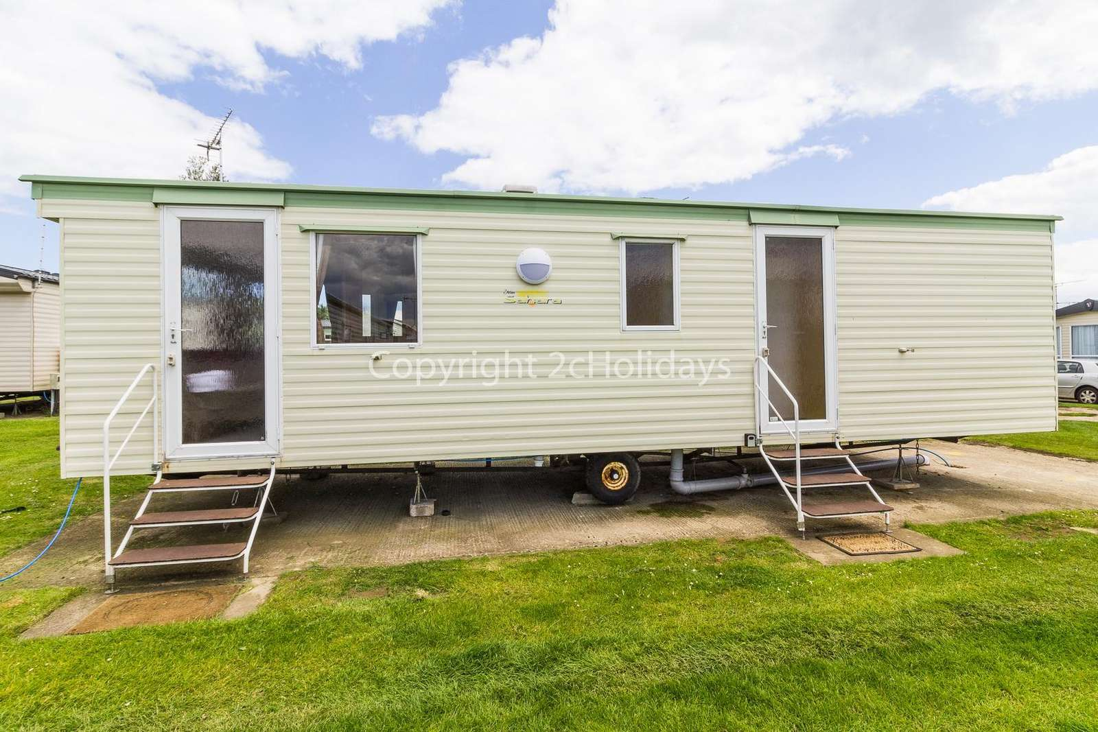 Great caravan with parking available next to accommodation!