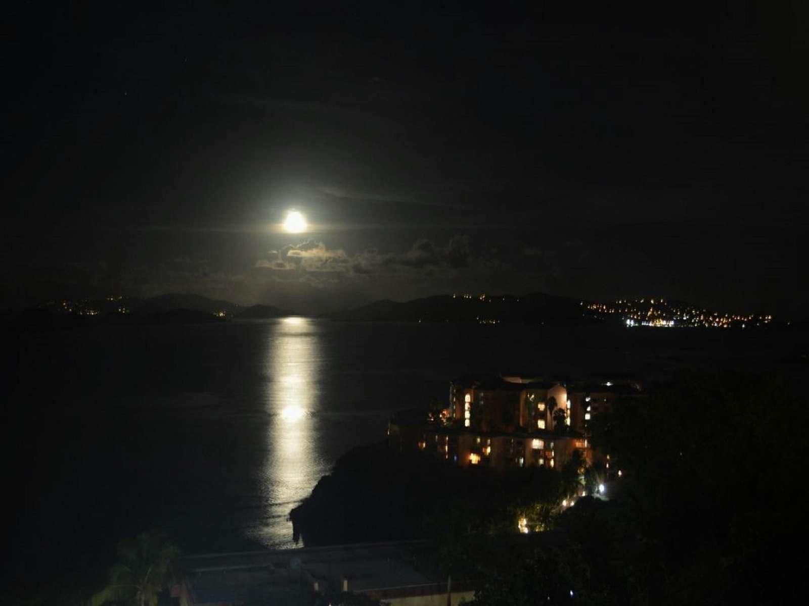 Moon Rise on the Balcony