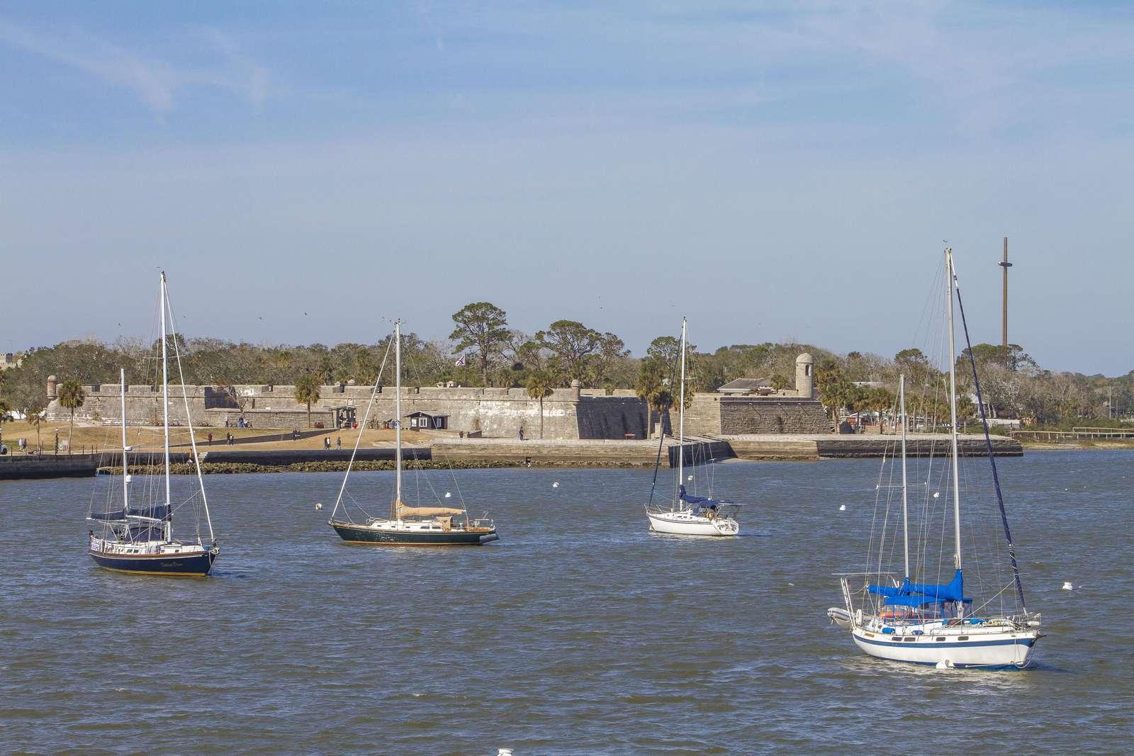 Boats at Castillo de San Marcos St. Augustine