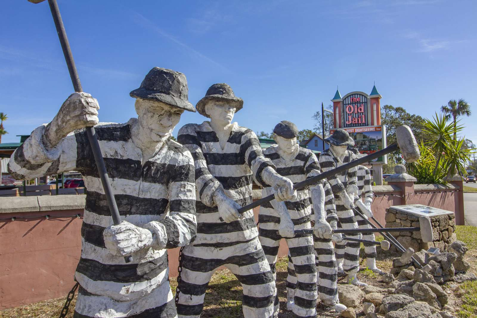Statues of Prisoners at the St. Augustine Old City Jail