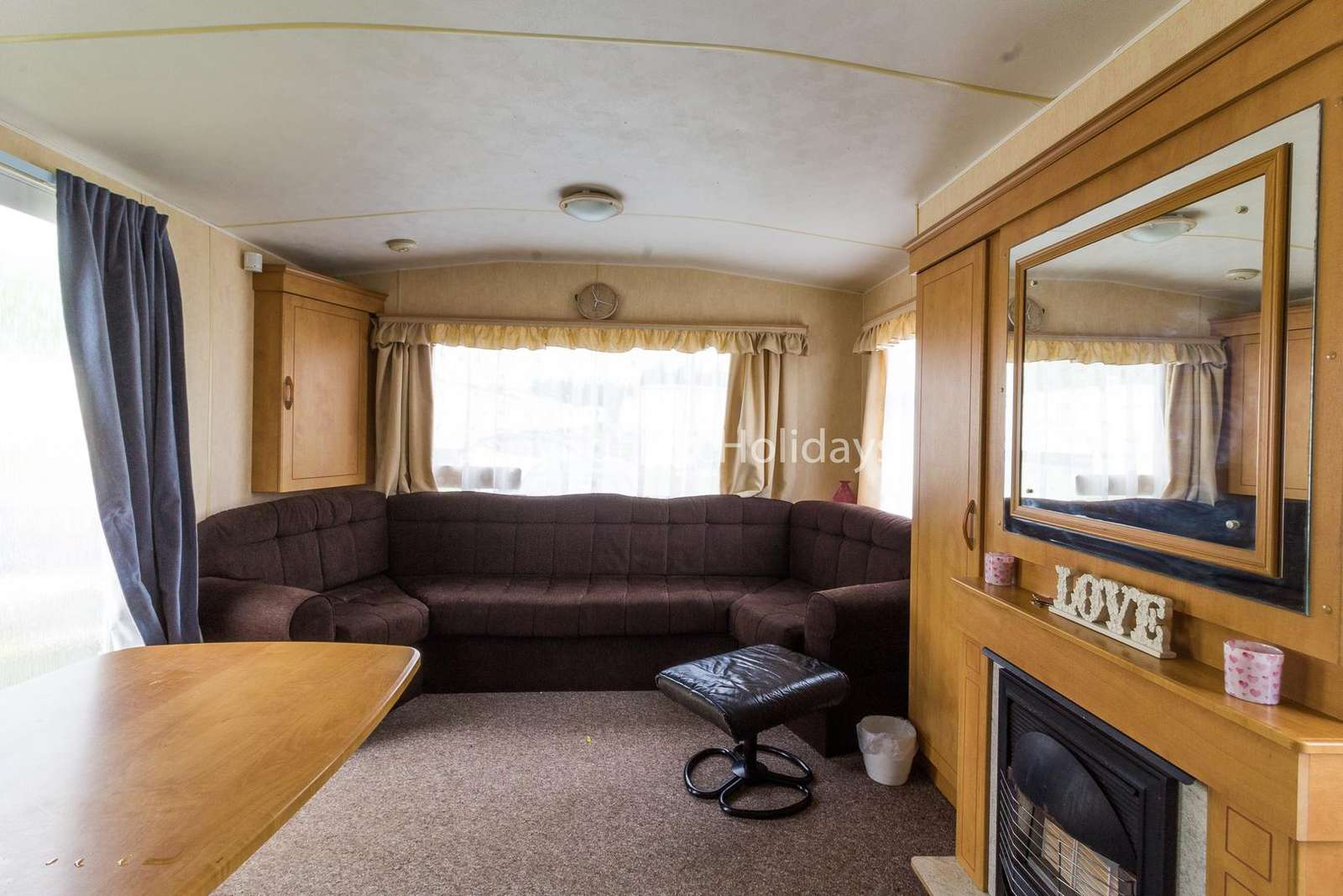 Very spacious lounge with a gas fire to give a cosy feel