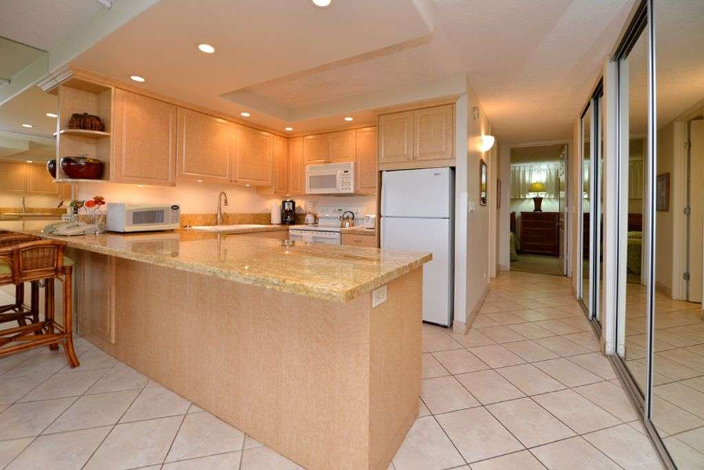 Kitchen with Gorgeous new Marble Countertops