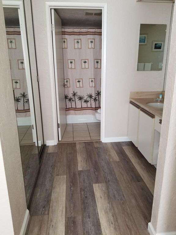 Master Bath with New Tile Flooring