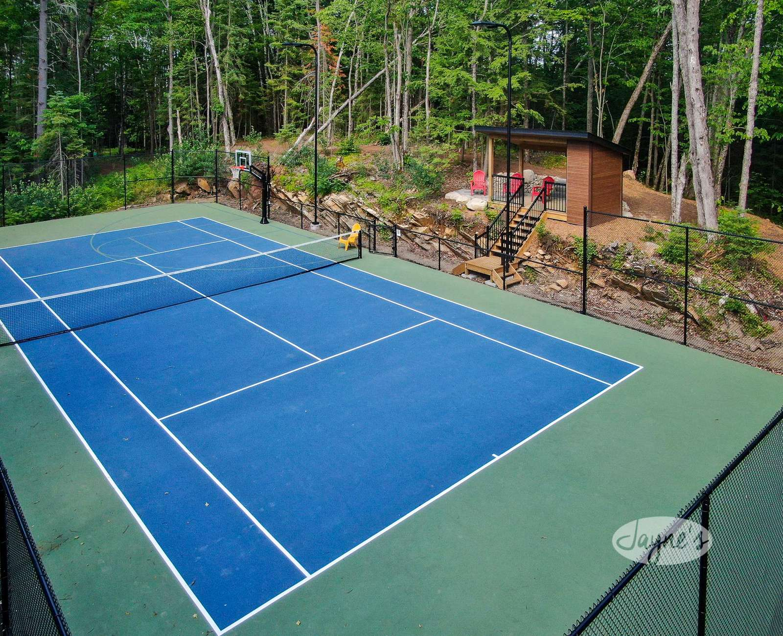 Tennis Court and Cabana