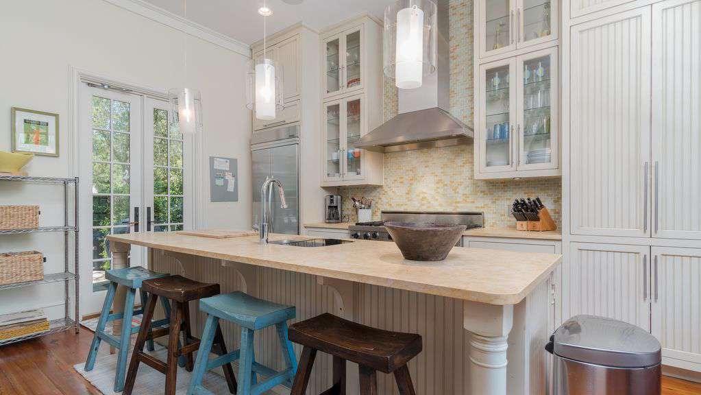 """Kitchen features a 48"""" Viking Range, Bosch Dishwasher and Kitchen-Aid Fridge"""
