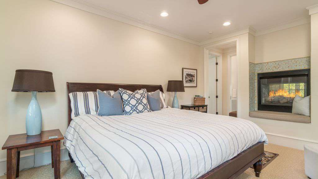 Master Bedroom Features Fireplace
