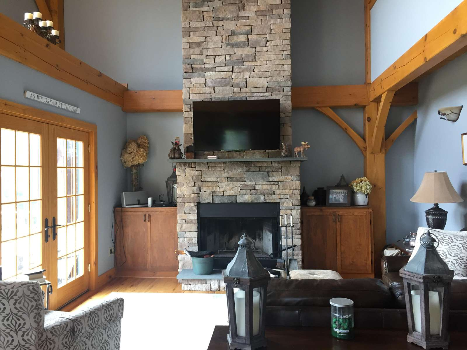 Vaulted ceilings and timber framing - property