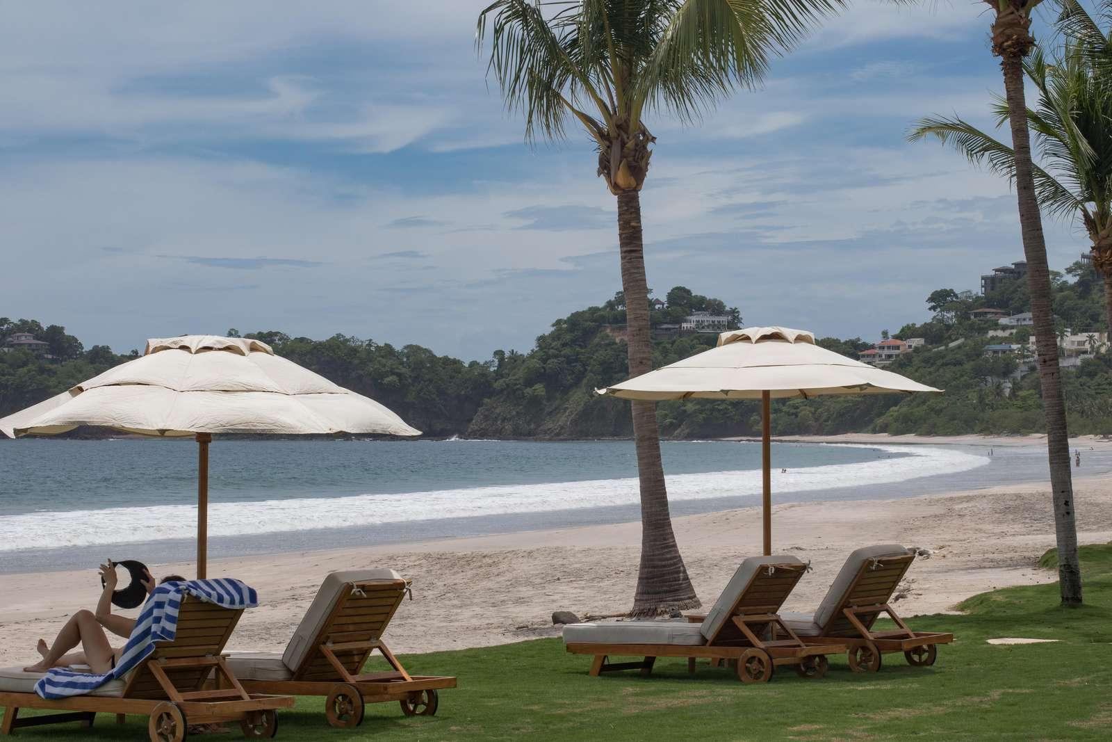 Private beachfront seating