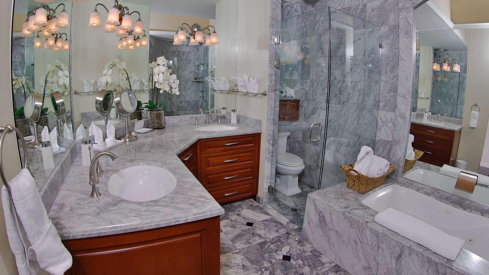 Master bathroom, dual vanity, garden tub