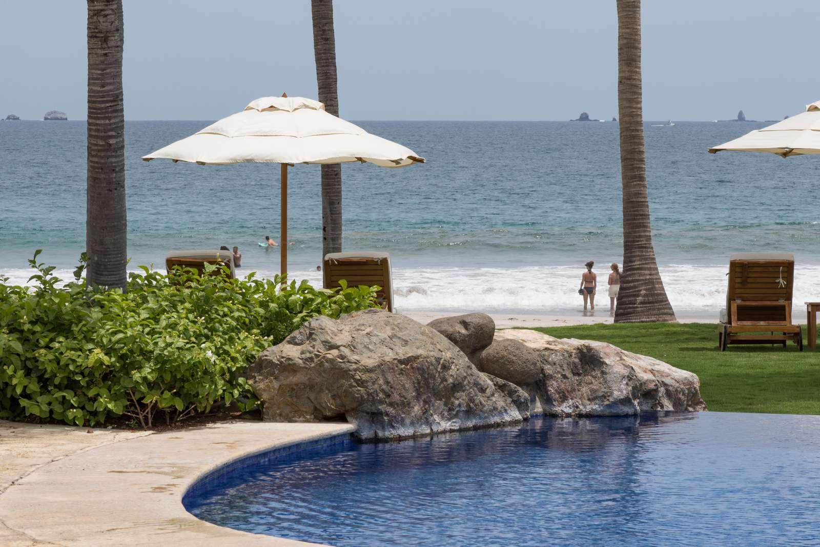 Designer pool area at the palms