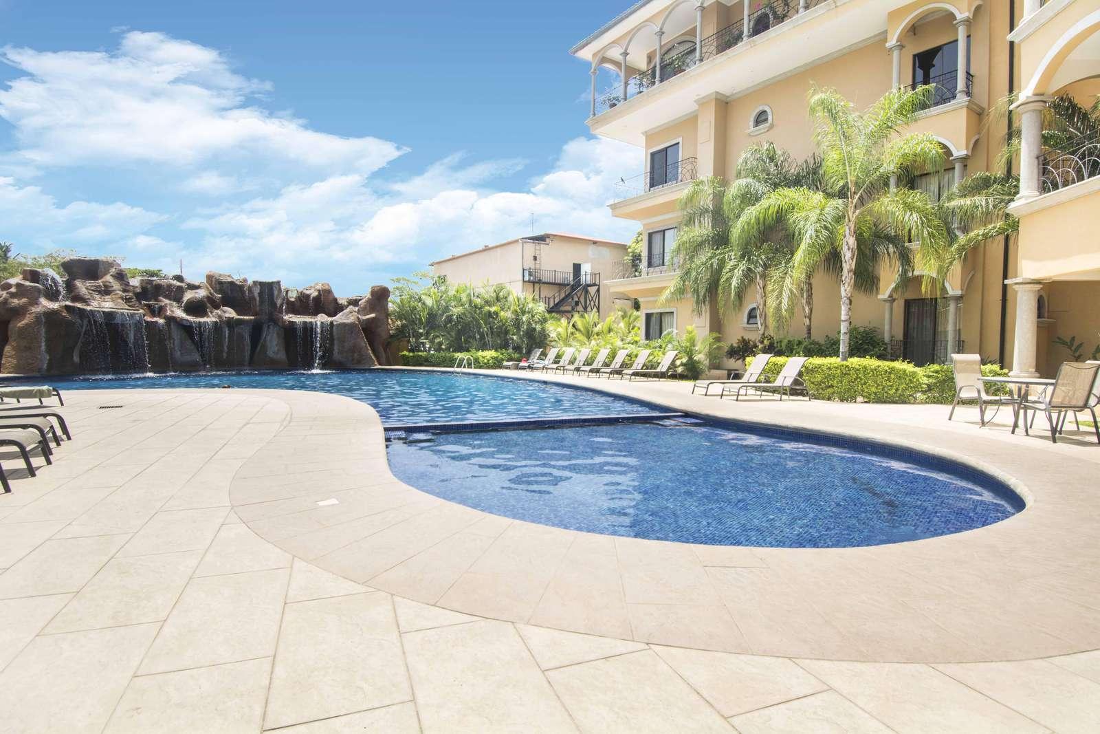 Large resort style pool