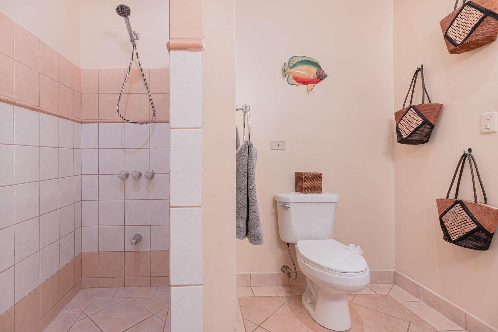 walk in shower, master bathroom