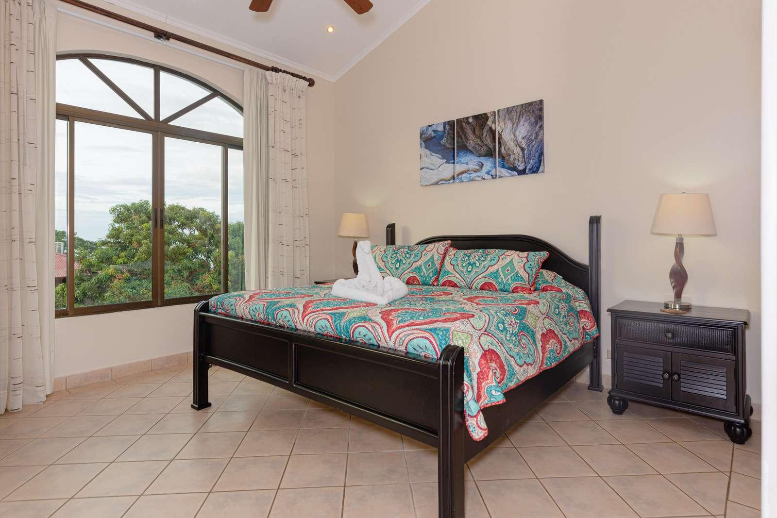 Master bedroom, King bed, ocean views, private bathroom