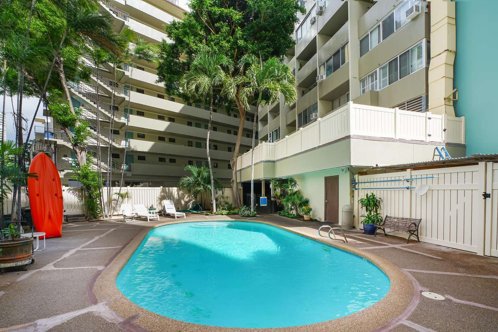 Crystal clear pool on 1st floor for your enjoyment.