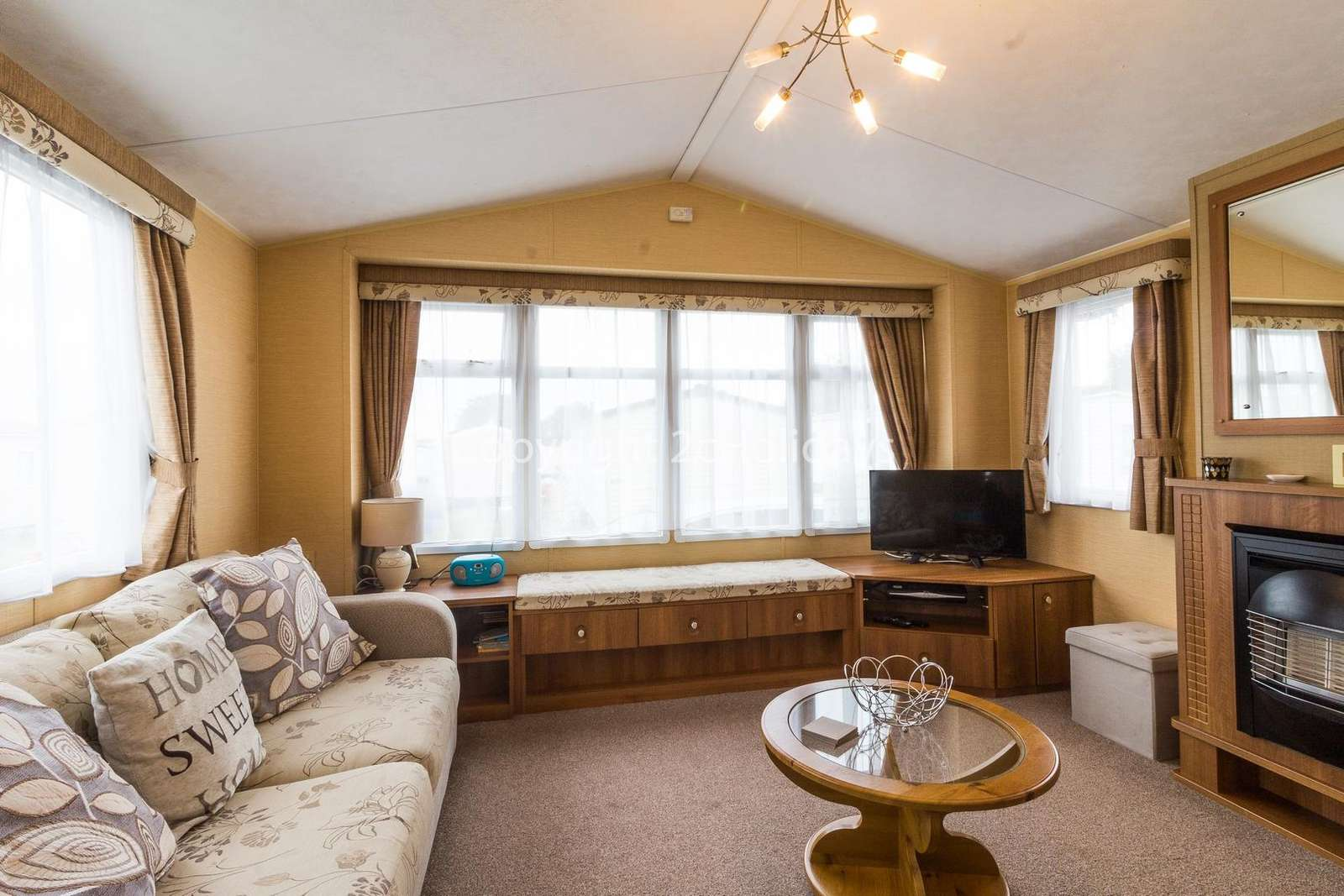 Cosy and homely lounge with a TV and gas fire!
