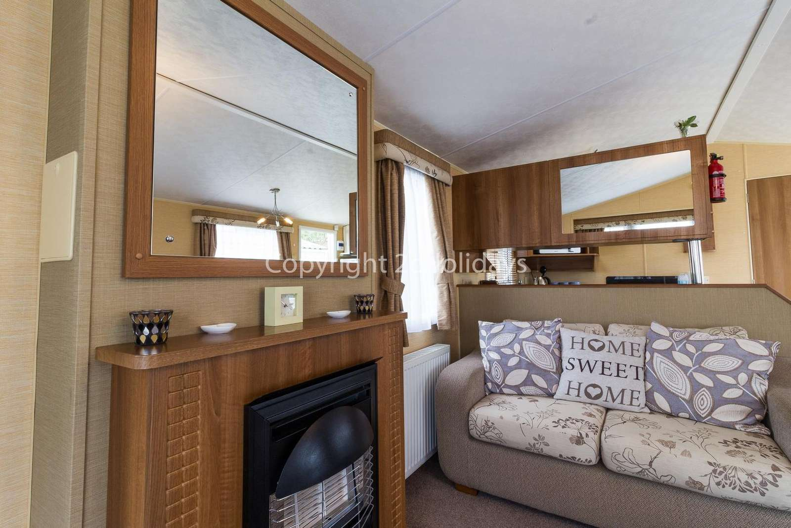 An open plan lounge and kitchen, ideal for families!